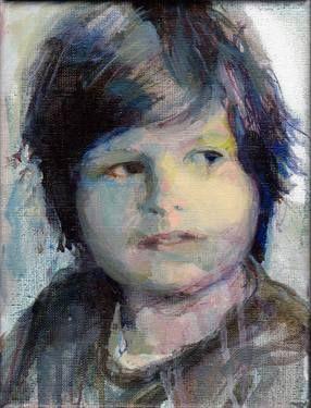 "Saatchi Art Artist Alexandra Kloppenburg; Painting, ""Painting of boy"" #art"