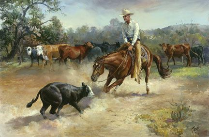 Horse And Cowboy Art   Western Art Paintings: Equine Art, Cowboy Art, & Paintings of Horses