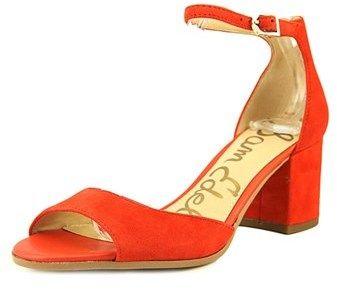 Sam Edelman Susie Women Open Toe Suede Orange Sandals.
