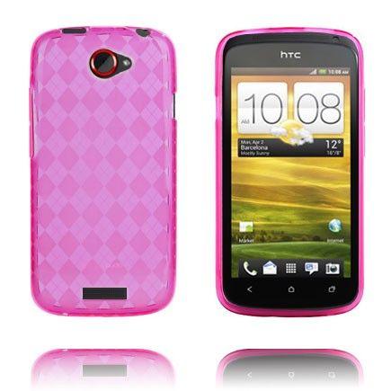 Tuxedo (Läpikuultava Pinkki) HTC One S Silikonisuojus