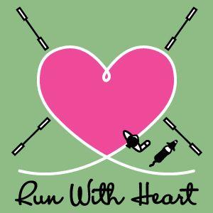 Run With Heart Dog Agility Shirt