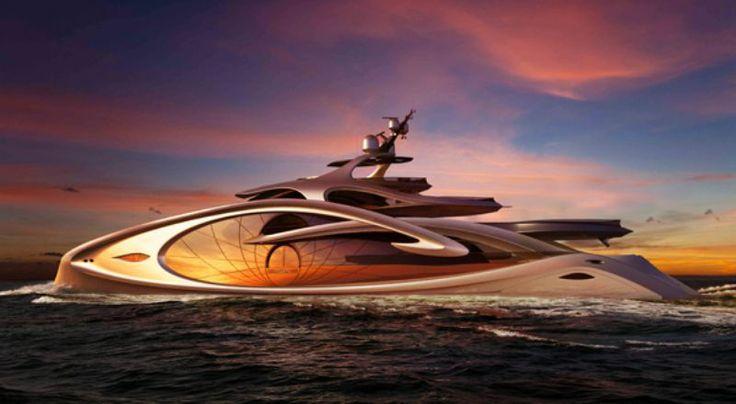 Superyacht - Nouveau 90m concept by Andy Waugh