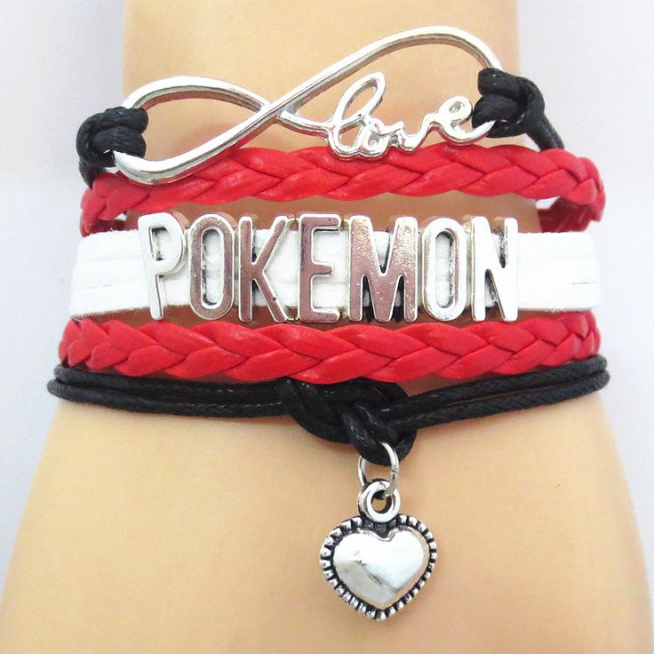 "Show your love for POKEMON with this charming ""Love Pokemon"" Bracelet Material: Zinc Alloy Size: Link Chain, so adjustable for size with lobster claw clasps. This product has FREE Shipping from our in"