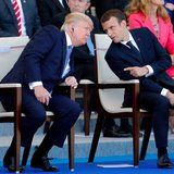 Trump Looks Like He's Having the Worst Day of His Life as French Army Band Plays Daft Punk