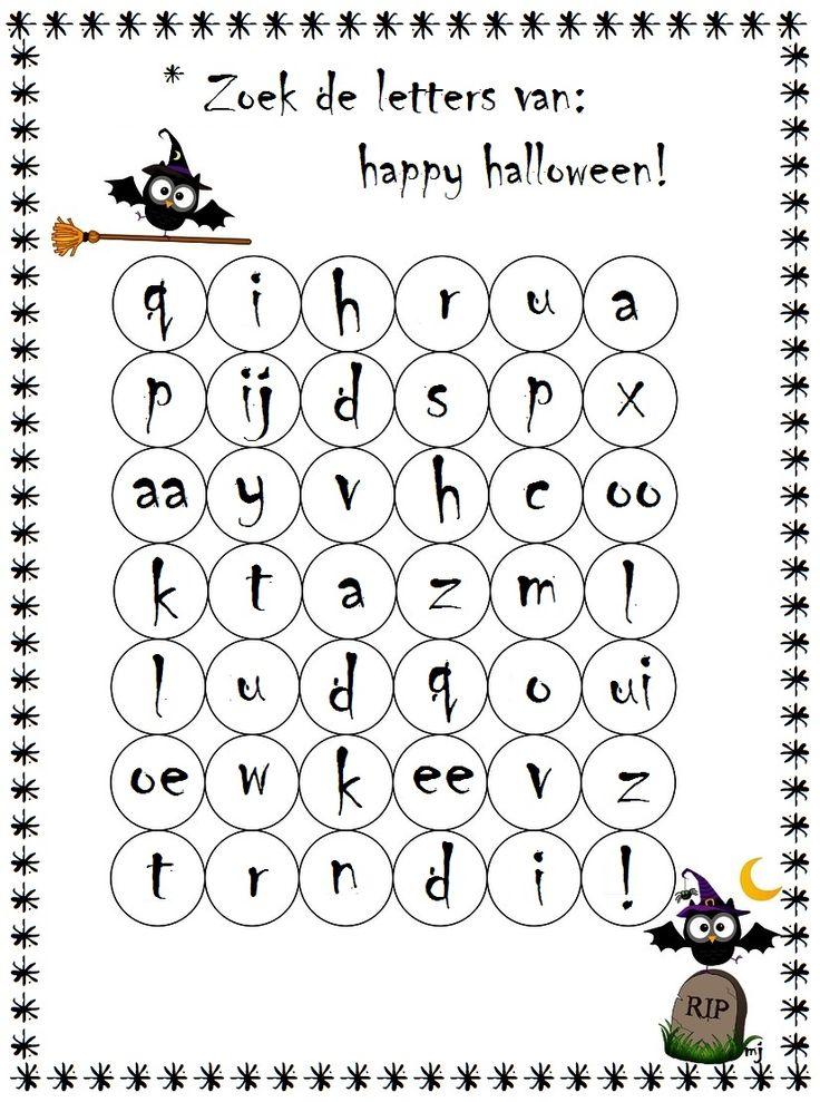 letters voor halloween