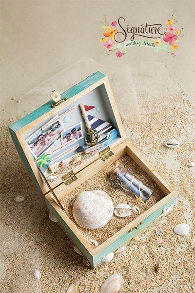 Beach Themed Wedding Ring Box
