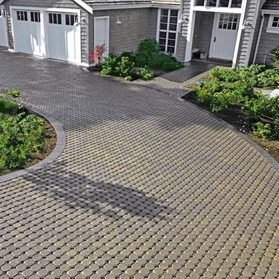 Pervious pavers incorporate small gaps allowing ­water to seep through into quick-draining gravel layers underneath. | Photo Karen Bussolini | thisoldhouse.com | from Best Ways to Deal with Storm Water