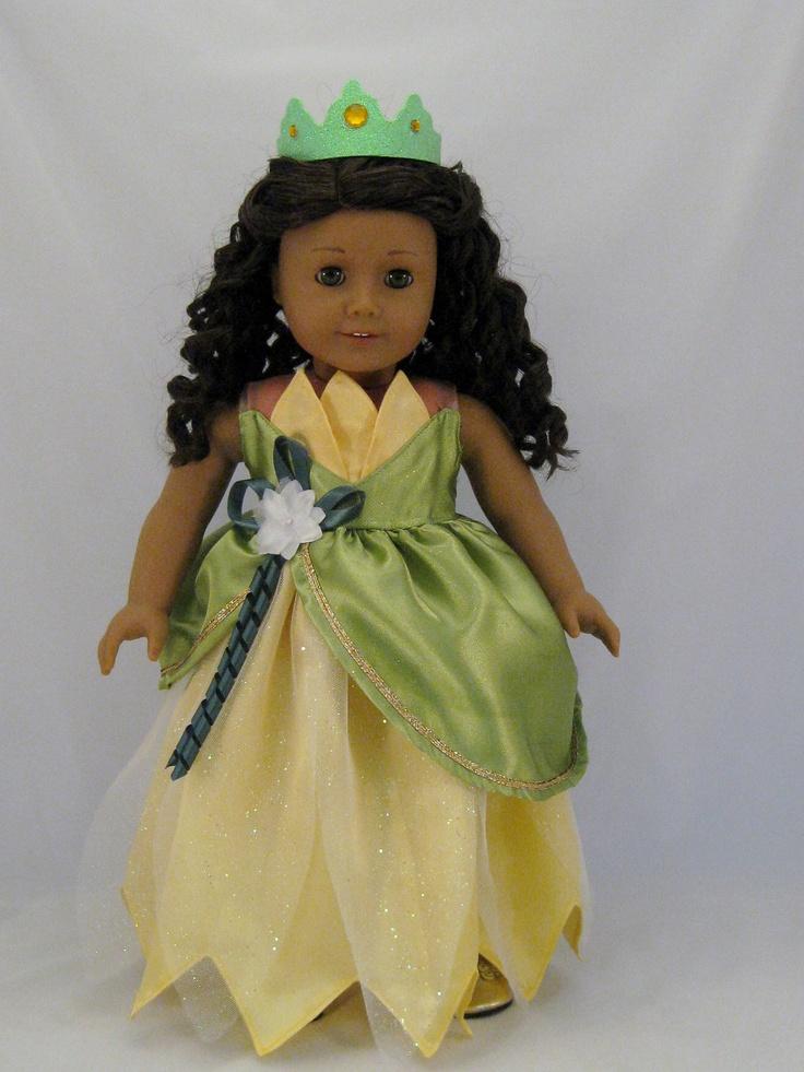Princess tiana wedding dress princess and the frog fits for American girl wedding dress
