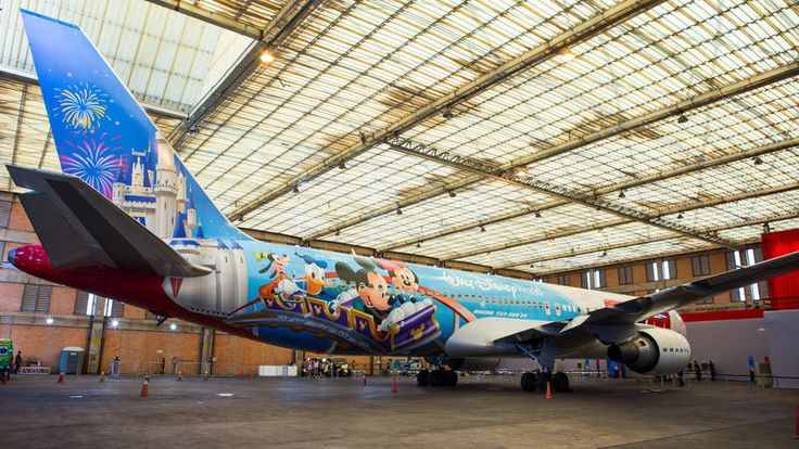 Walt Disney World just wrapped a giant TAM airline plane!