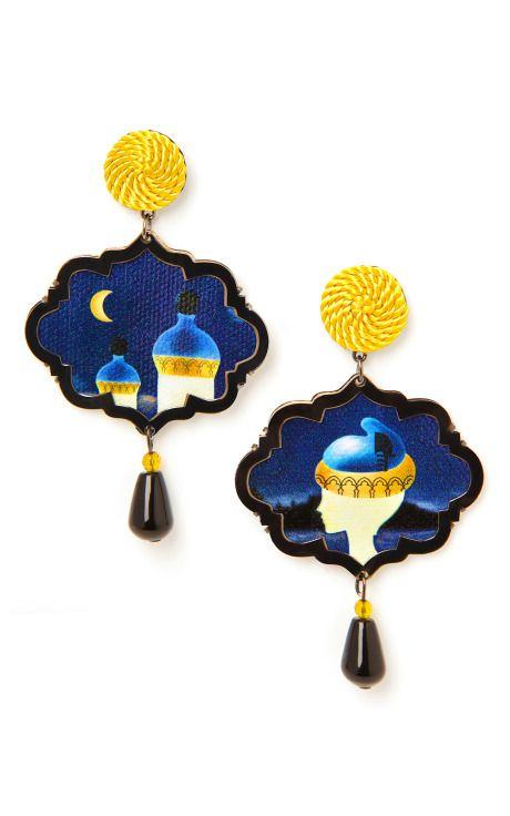 Shop The Dogaressa, Marco Polo Earrings by Anna E Alex for Preorder on Moda Operandi