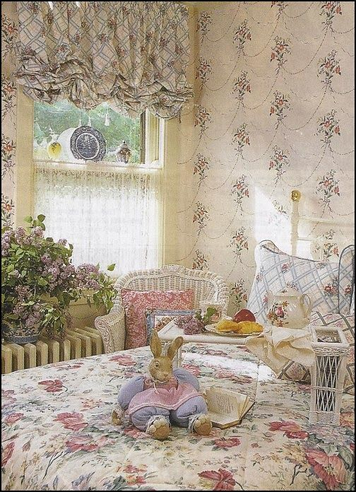 Victorian Floral Garden Style Bedroom Decorating Ideas Jpg