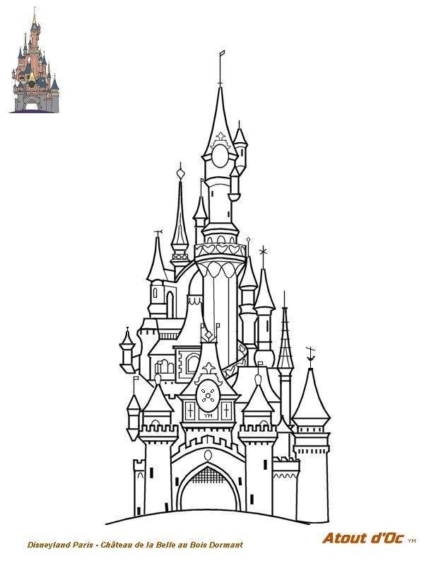 Disney Land Paris Coloriage En 2020 Coloriage Disney Coloriage