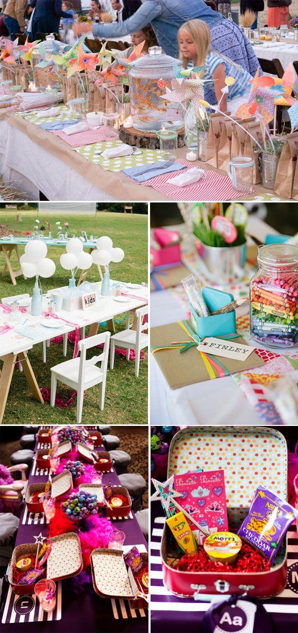 Cómo organizar tu boda: El Banquete. Decoración mesas de los niños. #weddingdecor #bodas #decoracionbodas #kids