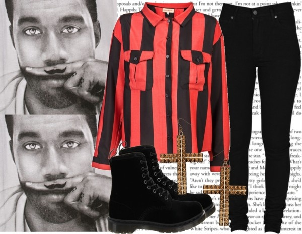 """The Paper Read Murder, Black On Black Murder♥"" by mrscarterwest ❤ liked on Polyvore"