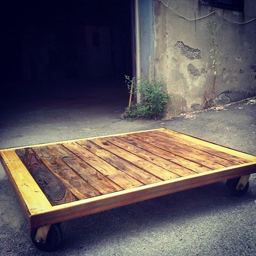 table basse sur roues coffee table with wheels #wood #palett #table #diy