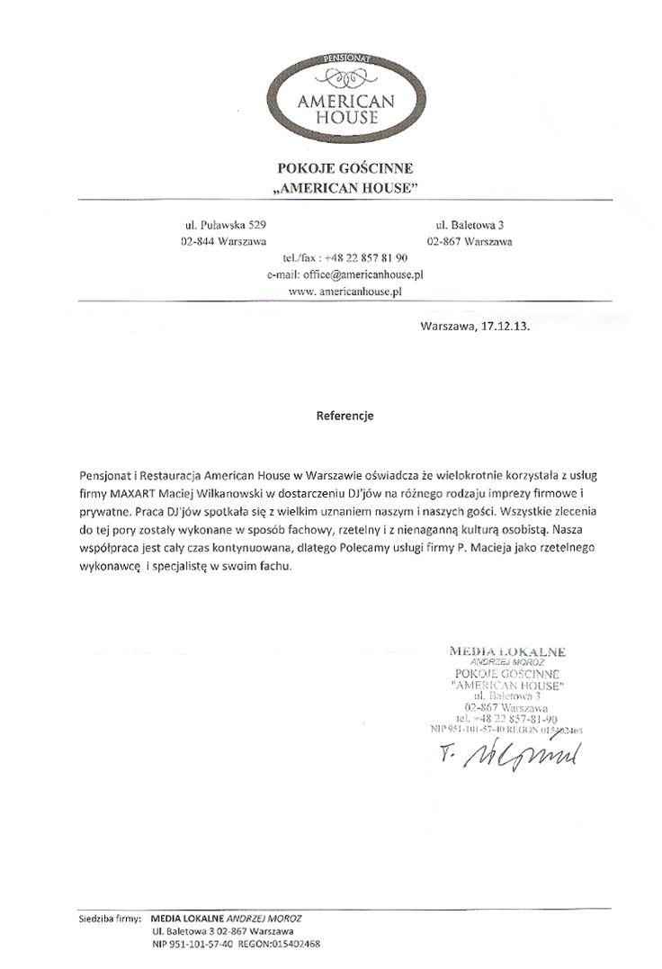 Referencje | DJ Maciej Wilkanowski