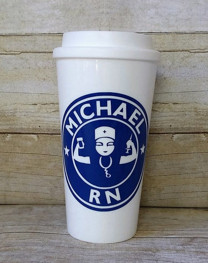Male nurse starbucks cup male rn custom reusable