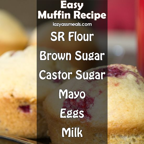 All the ingredients you need to make some delicious easy muffins!