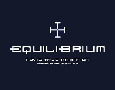 """Check out new work on my @Behance portfolio: """"Equilibrium Title Sequence"""" http://on.be.net/1K3MhMo"""