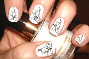 Justin Bieber Autograph Nail Art Transfer by SassyNailzIreland, $3.00: Nails Art, Disney Nails, White Nails, Nails Ideas, Nails Polish, Justin Bieber Nails, Cool Nails, Bieber Fever, Austin Mahone Nails