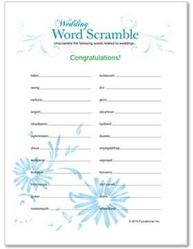 Printable Wedding Shower Games Mine and Alissa's wedding Fun quick and cute free printable games to get everyone involved