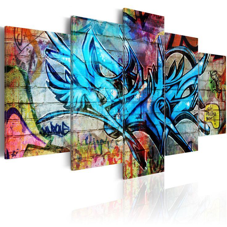 Obraz w stylu streetart #art #streetart #modern #graffiti #sztuka #dekoracja #wnętrza #wystrój #design