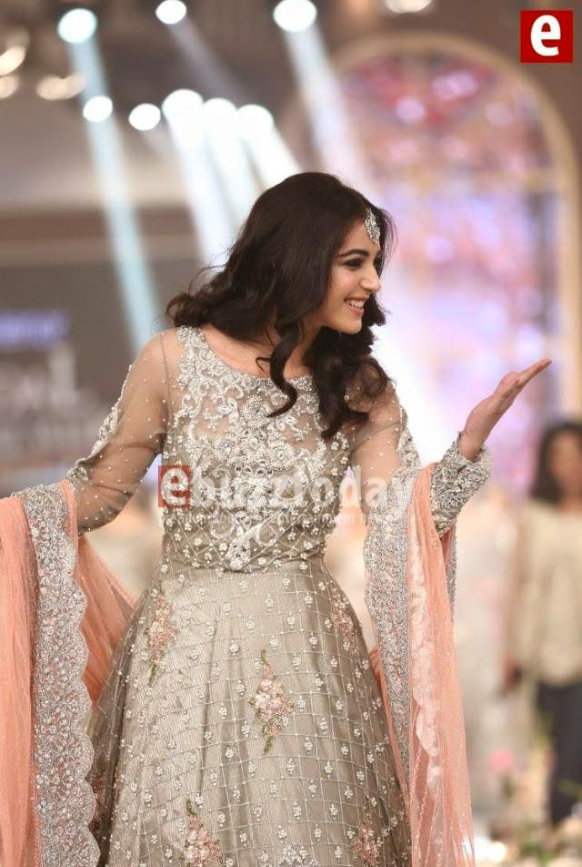 Actress Maya Ali as showstopper for Pakistani designer Maria B at Telenor Bridal Couture Week