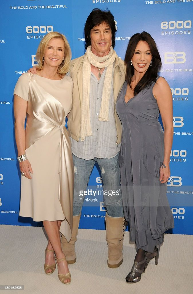 Katherine Kelly Lang, Ronn Moss and Hunter Tylo attend the 6,000 Episode of 'The Bold and the Beautiful' at CBS Television City on February 7, 2011 in Los Angeles, California.