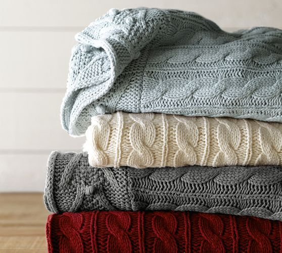 Cable Knit Throw (on sale for $ 59) | Fabulous Gifts For Gals | THE MINDFUL SHOPPER