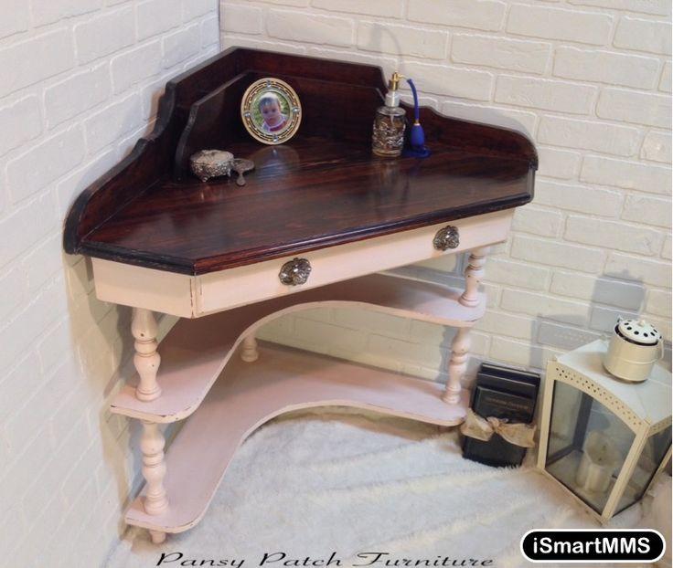 Cute corner desk vanity for more views see my facebook for Cute vanity desk