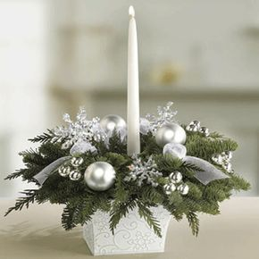 christmas table centrepieces - Google Search