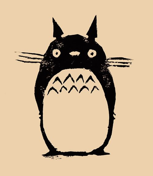 Totoro! Lino print.