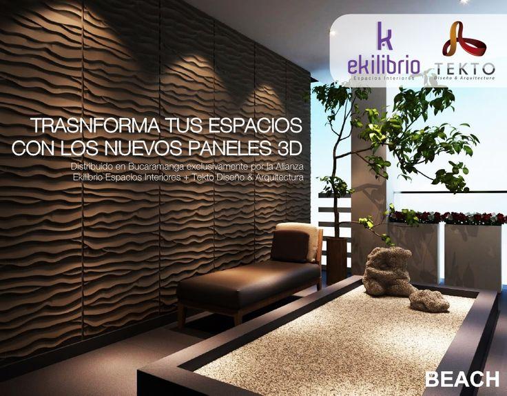 panel decorativo en 3d beach disponible en bucaramanga y su rea metropolitana a travs - Panel Decorativo Pared