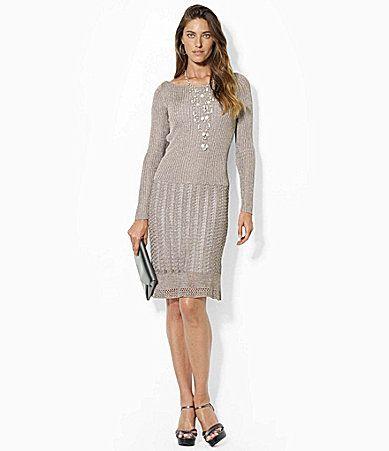 Lauren Ralph Lauren Metallic Boatneck Dress #Dillards