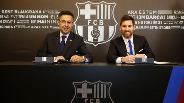 Lionel  Messi and FC Barcelona agreed to a new deal on Saturday morning that  will keep the diminutive Argentine star with his longtime f...