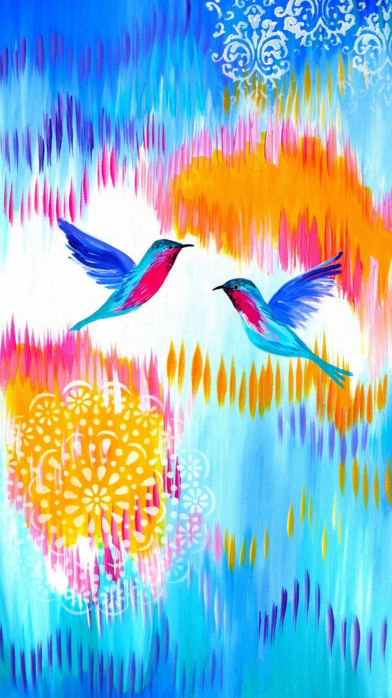 large paintings with hummingbirds colors hummingbird