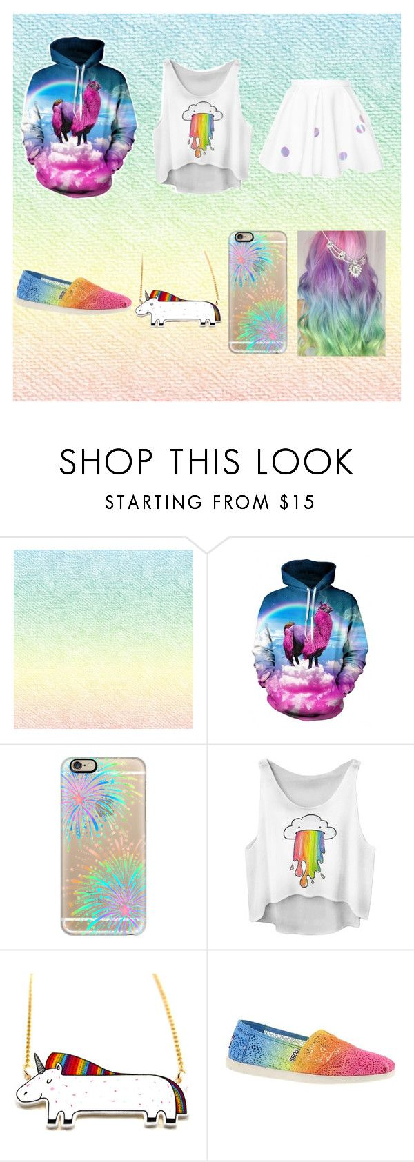 """""""Pink fluffy unicorns dancing on rainbows!"""" by weredragon360 ❤ liked on Polyvore featuring Casetify and Skechers"""