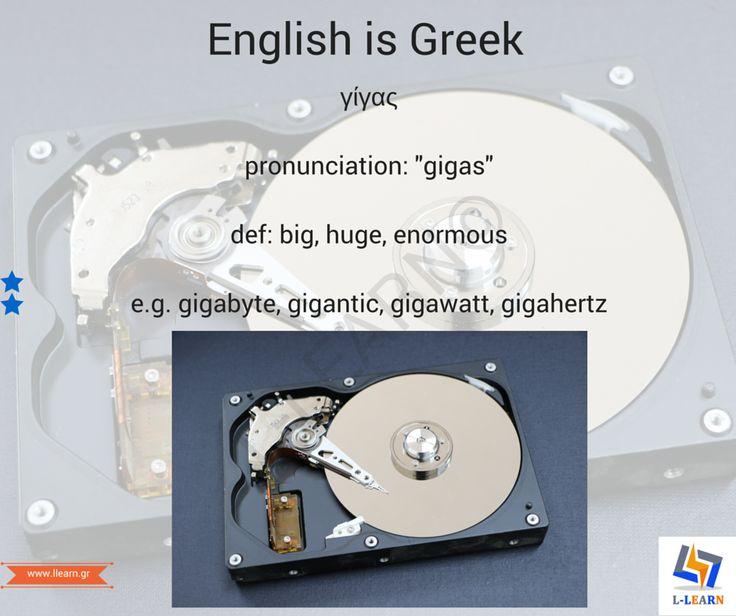 Γίγας.  #English #Greek #language #Αγγλικά #Ελληνικά #γλώσσα #LLEARN