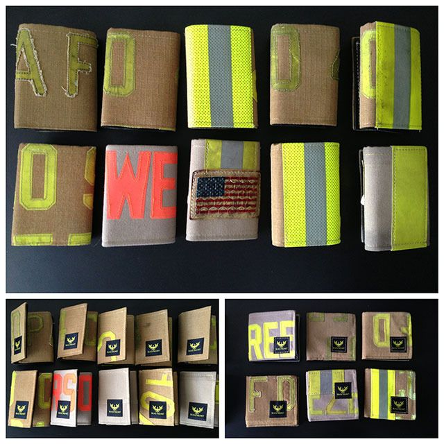 American Made Wallets from Recycled Firefighter Bunker gear-- Kickstarter. Help these guys meet their goal and get really cool wallets or clutches for your support.