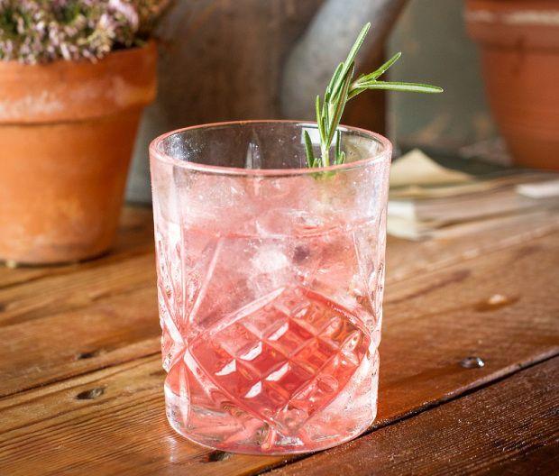 Rosemary Negroni // fresh rosemary, burleighs gin, campari, lillet Rouge, sweet vermouth, orange