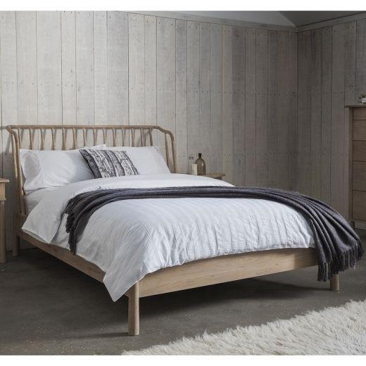 Alpine King Size Oak Bed Frame   Modern Oak Bedroom Furniture