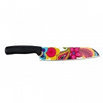 Enjoy a slice of life with the world's first patterned knives. Heavy duty construction suited for all your kitchen needs and, cut with creativity.  • High carbon stainless steel  • Printed one side  • Hand washing recommended • Avoid using abrasive cleansers and steel scrubbers when cleaning the knife