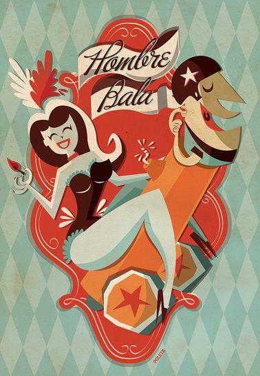 [Hombre Bala] Circus Serie by Poleta Art