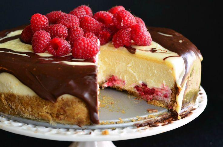 Double Chocolate Ganache and Raspberry Cheesecake 4 from willcookforsmiles.com