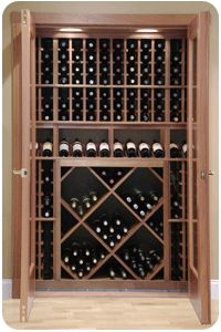 Small Wine Cellars under basement step.