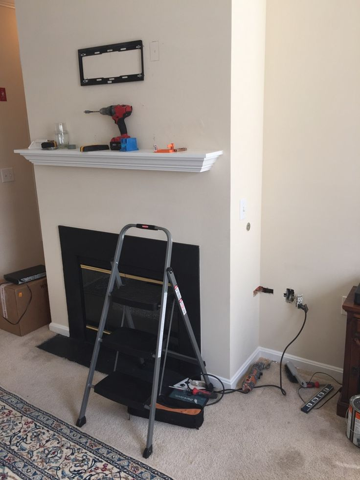 Nice Installing A TV Over A Fireplace With In Wall Wiring Before Mounting The TV.