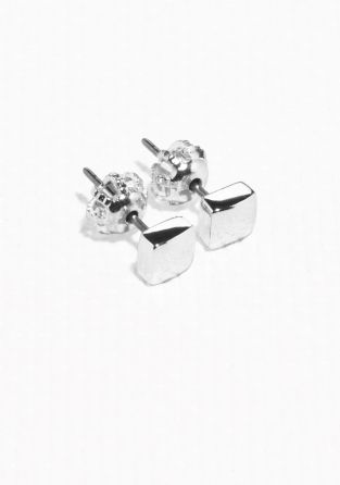 & Other Stories | Mini Square Stud Earrings