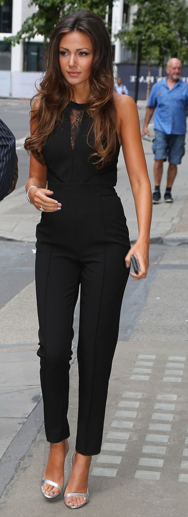 Click for similar outfit ~ black jumpsuit elegant jumpsuit