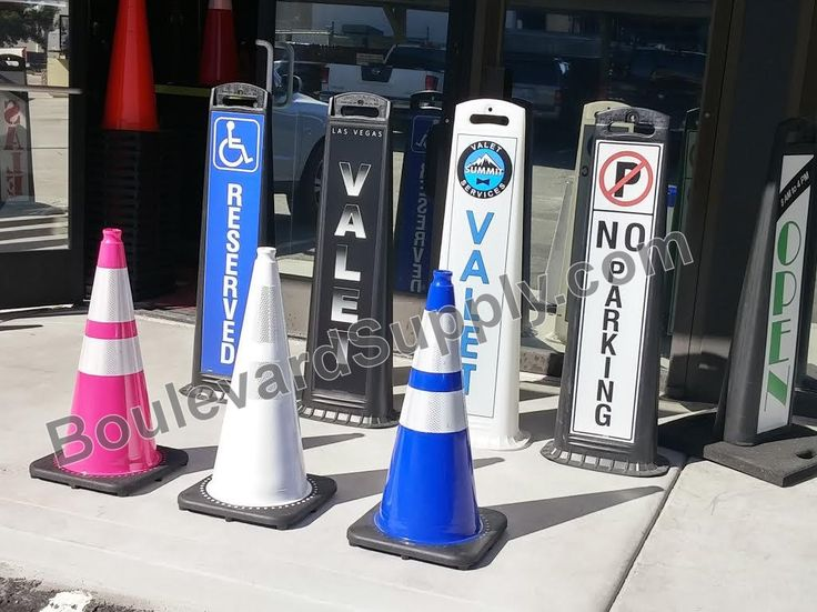 Does your valet area or parking lot look like a construction zone? Upgrade your valet parking service or parking lot with high quality, attractive traffic cones and portable signs.