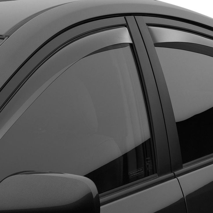WeatherTech 72357 Series Light Smoke Front/Rear Side Window Deflector Set - Side Window Deflectors WeatherTech(R) Side Window Deflectors, offer fresh air enjoyment with an original equipment look, installing within the window channel. They are crafted from the finest 3mm acrylic material available. Installation is quick and easy, with no exterior tape needed. WeatherTech(R) Side Window Deflectors are precision-machined to perfectly fit your vehicle's window channel. These low profile window…